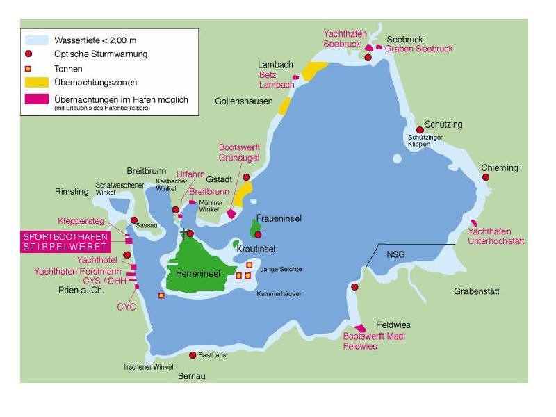 Chiemsee Karte Pdf.Schützing Am Chiemsee Bootsliegeplätze Und Fremdenzimmer